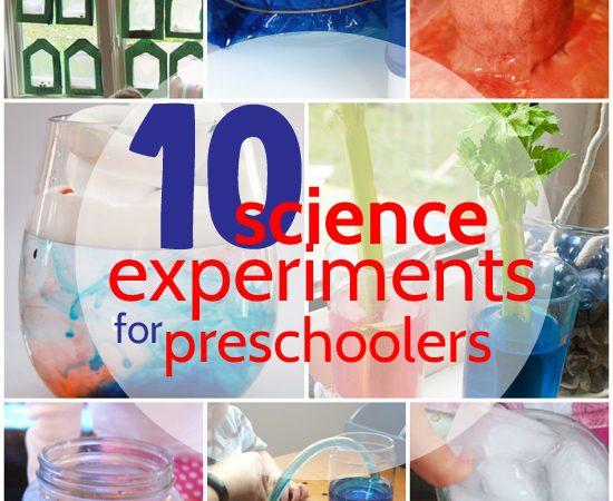10 Science Experiments for Preschoolers