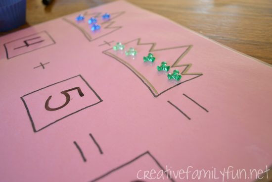 Practice addition by adding jewels to a tiara with this fun princess math game. It's a fun way to add a little magic to math.