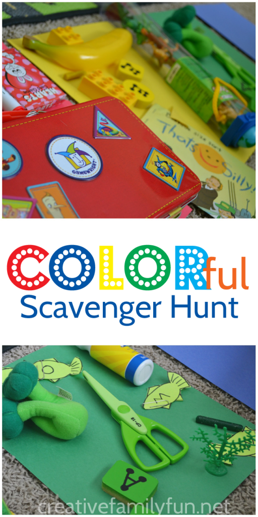 Learn all about colors with this fun and simple indoor color scavenger hunt for preschoolers and toddlers. It's easy to set up and perfect for a rainy day!