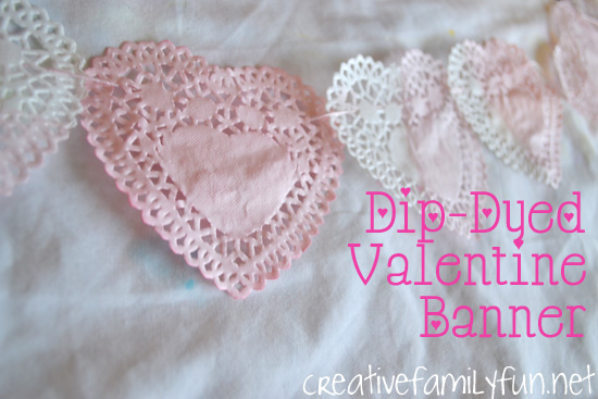 Dip-Dyed Valentine Banner