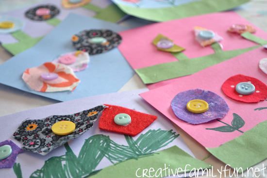 Button Flowers: A Spring Flower Craft for Kids