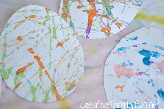 Try a fun art technique to make pretty paper Easter eggs with this fun project, Shake Art Easter Eggs. This activity is fun for kids of all ages.