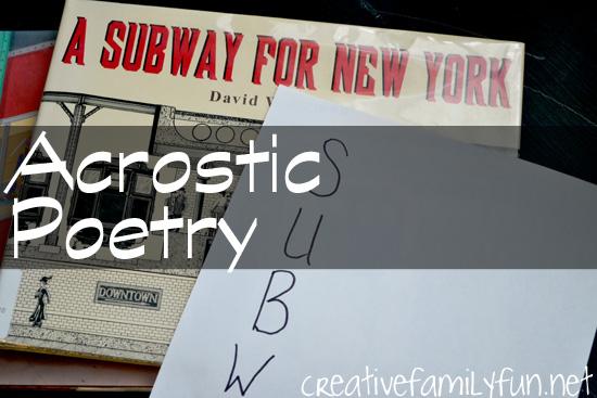 Subway Acrostic Poetry