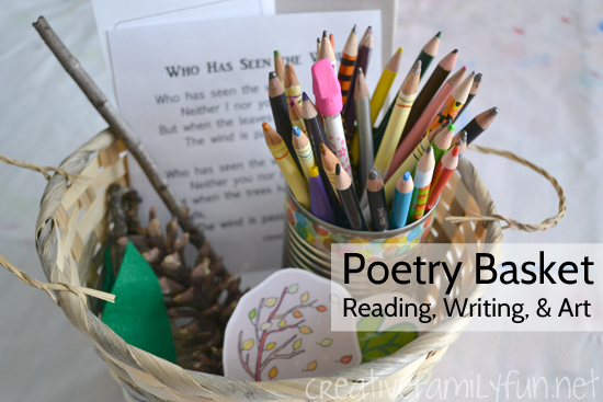 Poetry Basket for Creative Writing Fun