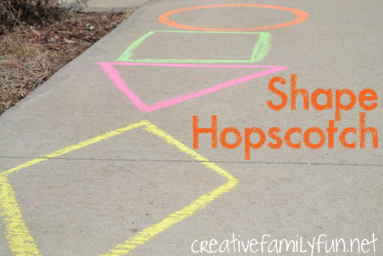 Go Outside: Shape Hopscotch