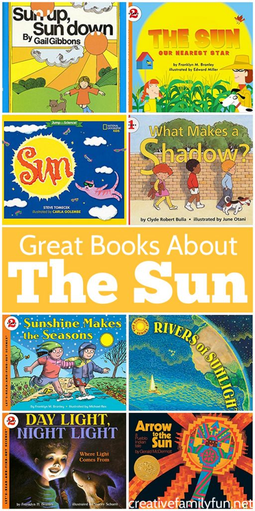 Learn all about the sun with one of these fun books about the sun for kids. You'll find science and folklore with these fabulous books that are perfect for reading aloud.
