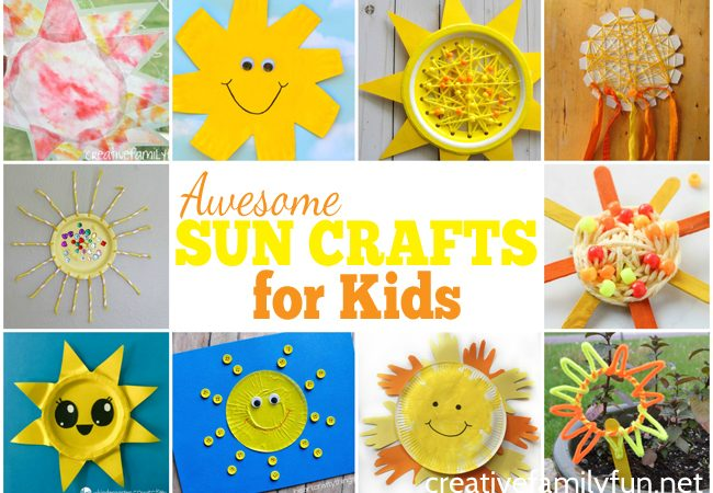 These fun sun crafts for kids are the perfect summer craft. Gather your supplies and have some fun with these awesome kids crafts.