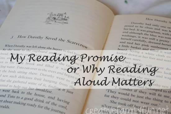 My Reading Promise or Why Reading Aloud Matters