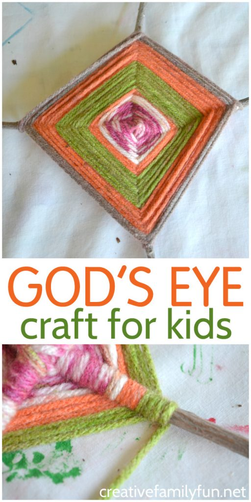 Sit down with your kids to make this fun classic craft. This rustic God's Eye craft for kids uses simple supplies and it is easy to make your own unique version.