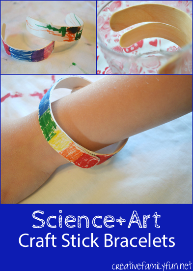 Combine science and art to create this fun STEAM activity for kids, craft stick bracelets. Do a simple science experiment to bend your craft sticks and then decorate your new bracelet.