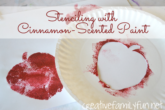 Stenciling with Cinnamon-Scented Paint