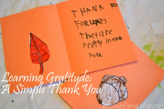 Learning Gratitude: A Simple Thank You