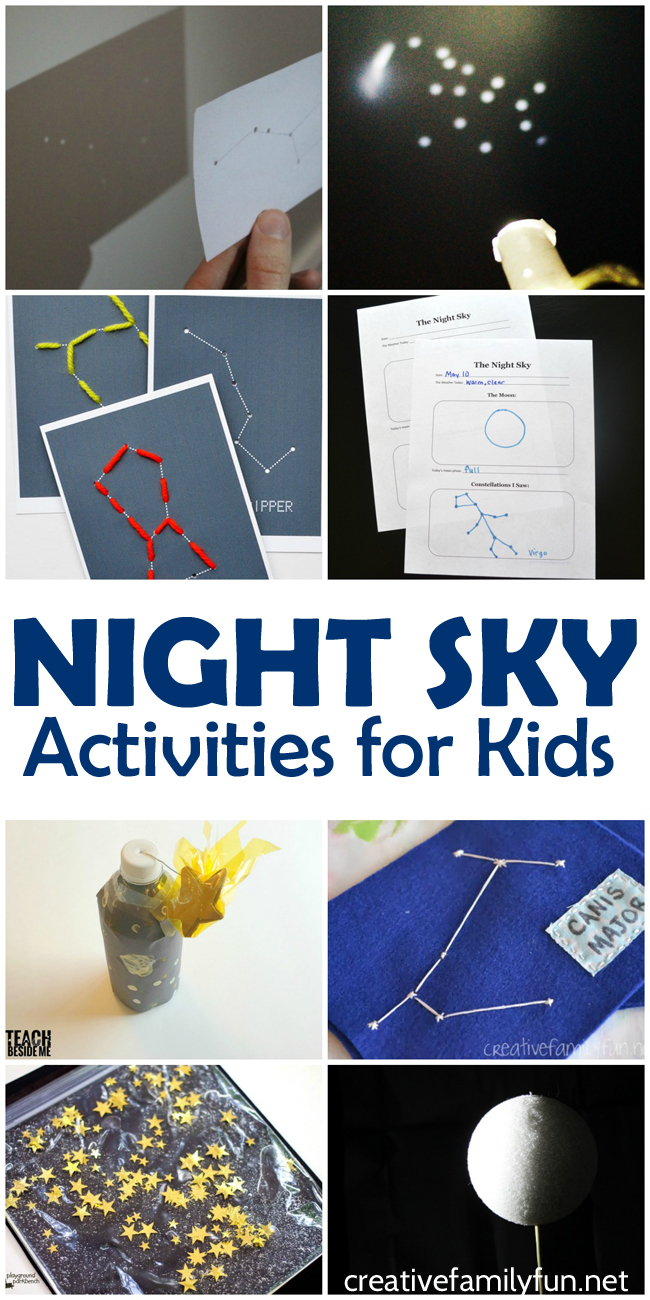 Fun night sky activities for kids creative family fun for Educational crafts for toddlers