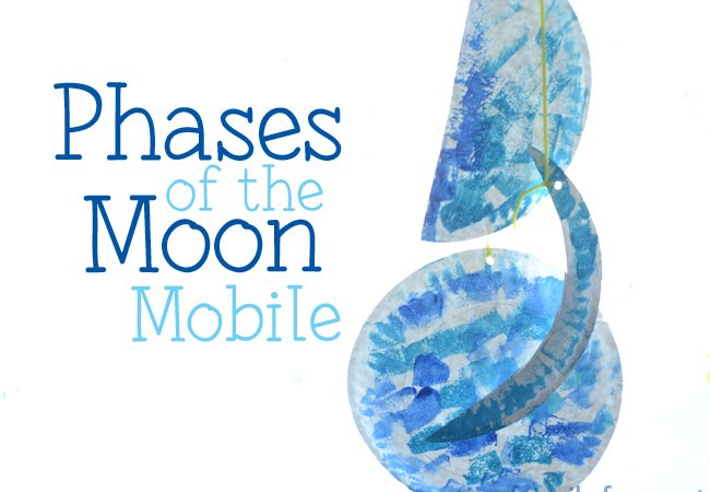 Combine science and art to make this simple phases of the moon mobile out of paper plates. It's a fun way to learn about the moon.