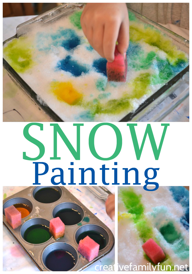 Use snow as your canvas and use a simple DIY snow paint to get creative with this fun Snow Painting Art Activity for kids.