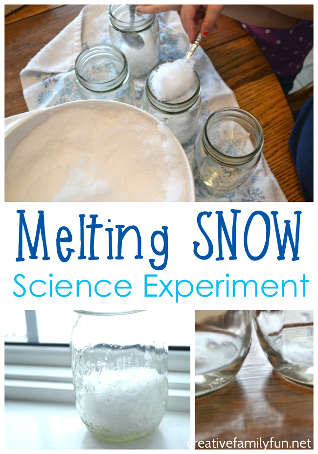 Practice making predictions and observations with this simple melting snow science experiment. It's perfect to do on a cold, snowy day!