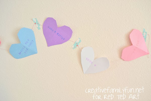 Candy Heart Bunting at Red Ted Art