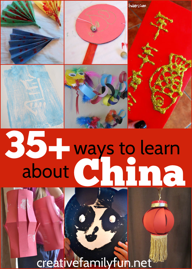 Over 35 crafts, games, learning activities, cooking activities, and more China activities for kids suitable for preschool, kindergarten, and elementary kids #China #worldculture #geography #CreativeFamilyFun