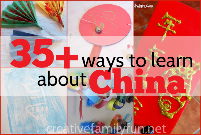 Over 35 crafts, games, learning activities, cooking activities, and more China activities for kids suitable for preschool, kindergarten, and elementary kids