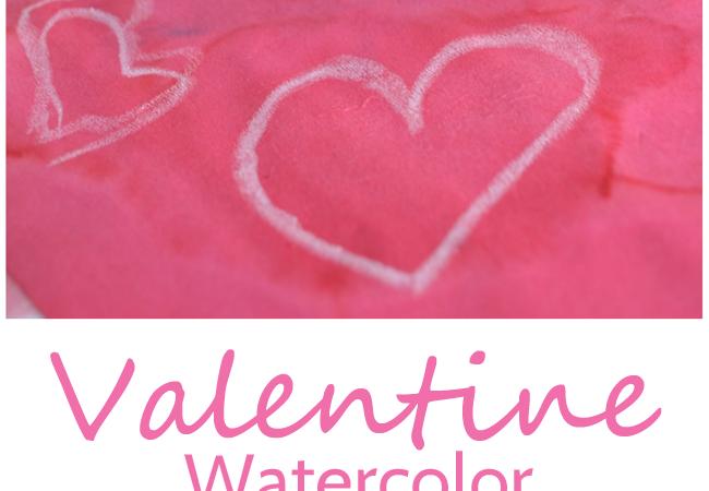Valentine Watercolor Resist Painting