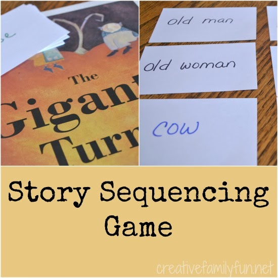 Enhance your learning with this fun reading game to go along with the book The Gigantic Turnip. This Gigantic Turnip story sequencing game is easy to prep and so much fun to play.