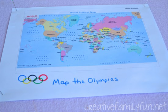 Locate different countries on a world map and learn about their flags with this fun Olympic mapping activity you can do while watching the Olympic Games.