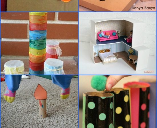 30+ Fun Recycled Crafts for Kids