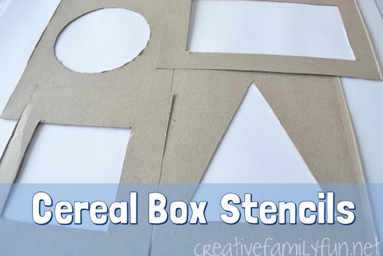 Cereal Box Stencils