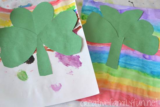 Shamrock Rainbow Craft for Kids