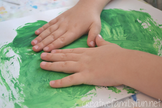 Try some fun smoosh painting to create this pretty St. Patrick's Day craft for kids. The process is fun and the results are pretty with this sensory painting idea.