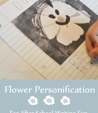 Flower Personification ~ For After School Writing Fun