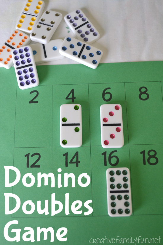 Practice your doubles addition facts with this simple, free printable Domino Doubles Game. It's a fun and easy math game for your elementary kids.
