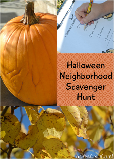 Grab the kids for this fun Halloween scavenger hunt which takes you through your neighborhood looking for holiday decorations and other fall fun.