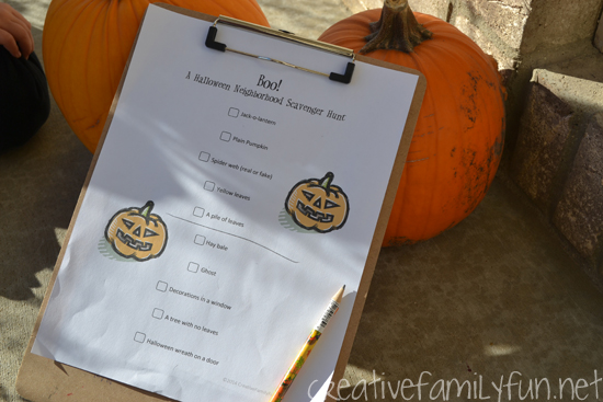 Neighborhood Halloween Scavenger Hunt