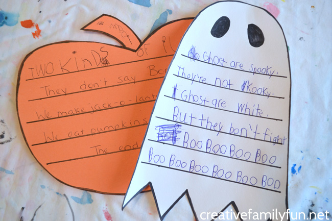 Get a little creative when you write these fun Halloween shape poems. It's a fun Halloween writing activity for elementary kids.