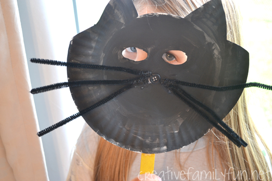 Halloween Black Cat Mask