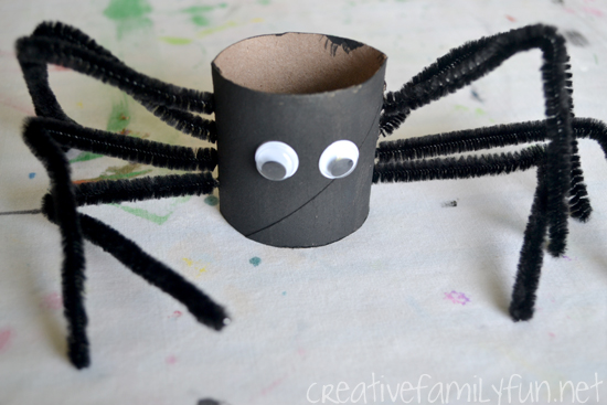 Grab some cardboard tubes from the recycle bin and a few craft supplies to make this fun Halloween craft for kids: Cardboard Tube Spiders for Halloween.