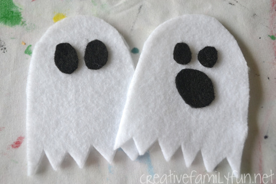 No-Sew Ghost Pencil Topper