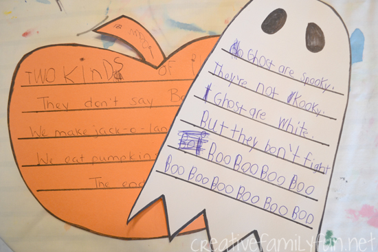 Halloween Shape Poems
