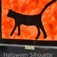 Silhouette Halloween Suncatcher