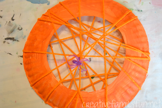 Spider Web Wreath Halloween Craft