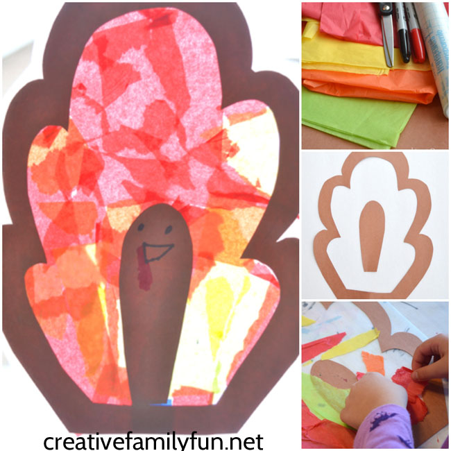 Brighten up your window with this colorful Thanksgiving craft for kids, Turkey Suncatcher. It's a fun craft for preschool and elementary kids.