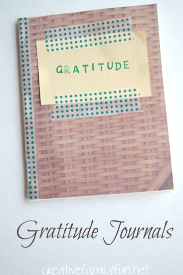 Make a simple DIY Gratitude Journal. This little journal is a great place to encourage kids to write about all that they are thankful for.