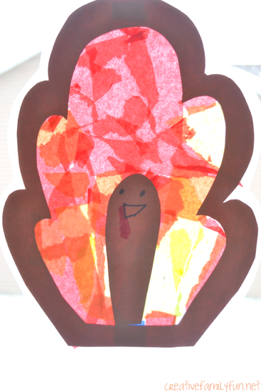 Turkey Suncatcher Thanksgiving Craft for Kids