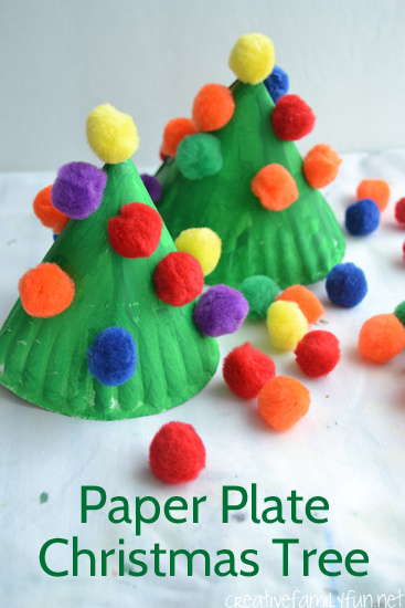 Make this fun and colorful Paper Plate Christmas Tree craft for kids or make several for & Paper Plate Christmas Tree Kids Craft - Creative Family Fun