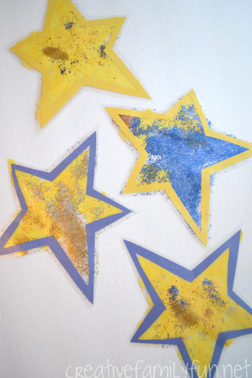 Make a Stained Glass Star Suncatcher or many of them to decorate your windows when you make this fun Christmas craft for kids.