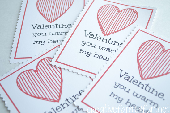 Printable Hot Chocolate Valentines