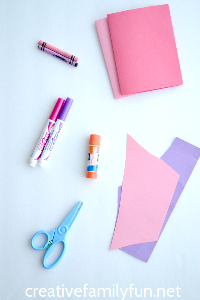 Explore open-ended creativity when you set up a simple Valentine card making station for kids. Grab a few simple supplies and get started crafting.