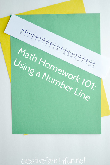 Math Homework 101: How to Use a Number Line - Creative Family Fun