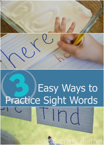 It's so easy to work on sight words at home. Try one of these low-prep and fun easy ways to practice sight words. Your kids will have so much fun learning at home.